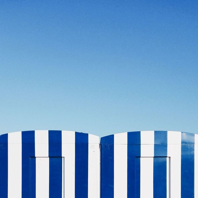 My Favorite Place Valencia, Spain Blue Clear Sky Blue Color No People Repetition Symmetry Minimalism Minimal Architecture Geometric