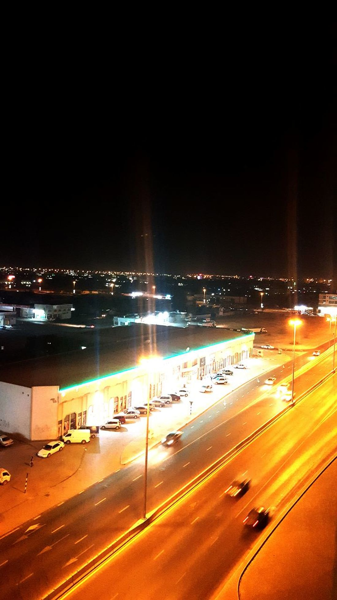 Places I've Been View From The Top Ras Al Khamieh, UAE City Lights Light And Road My Point Of View