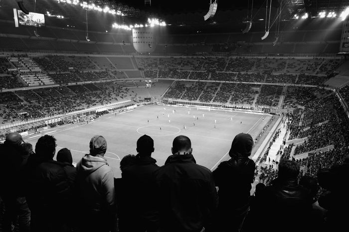 Any given sunday Any Given Sunday Black And White Curva Sud Football Human Illuminated Large Group Of People Match - Sport Match Day Match Day. Happy ♥ Milan Milano People Sitting Smartphone Photography Soccer Spectator Sport Sports Team Stadium Sunday Match Team Sport Togetherness Ultras