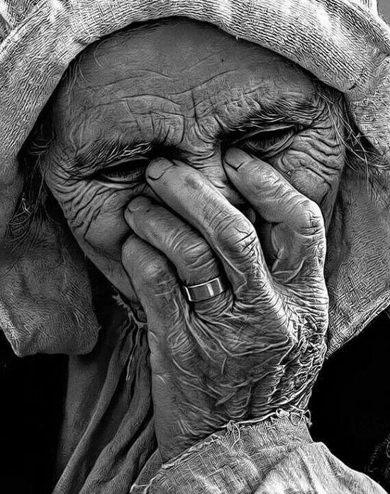 Pain Art Grandma! Blackandwhite