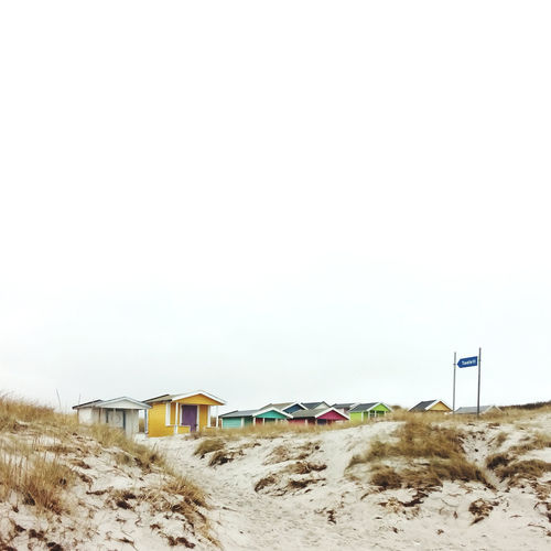 Rough Coast of Southern Sweden Skåne Beach Colour Houses Shore White Grey Yellow Sand