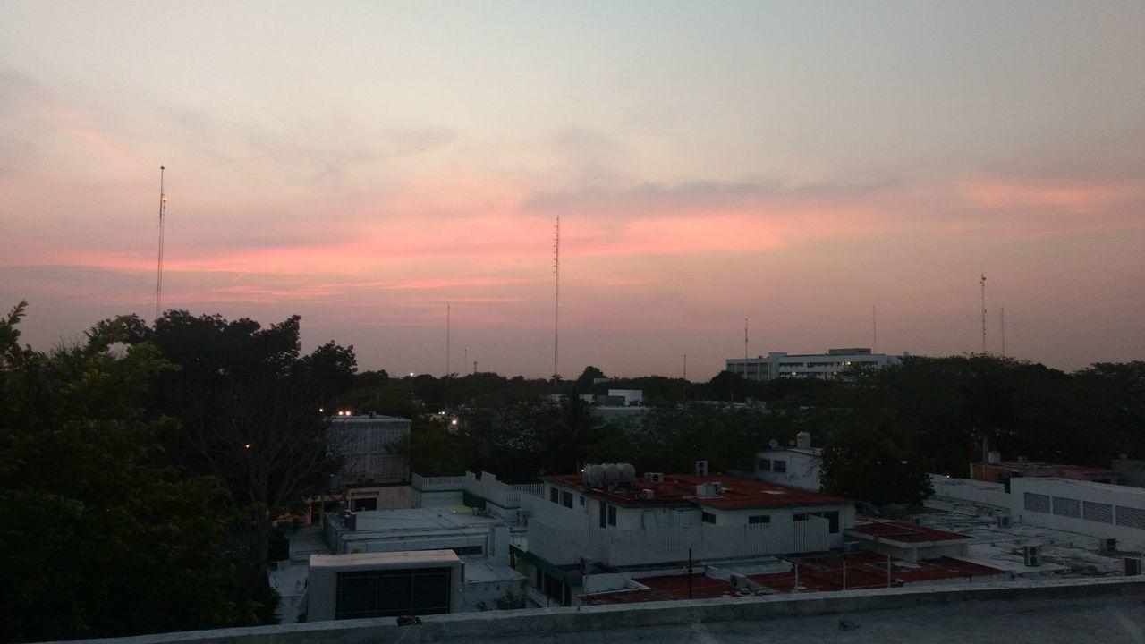 Sky Night City Nature Yucatan Mexico