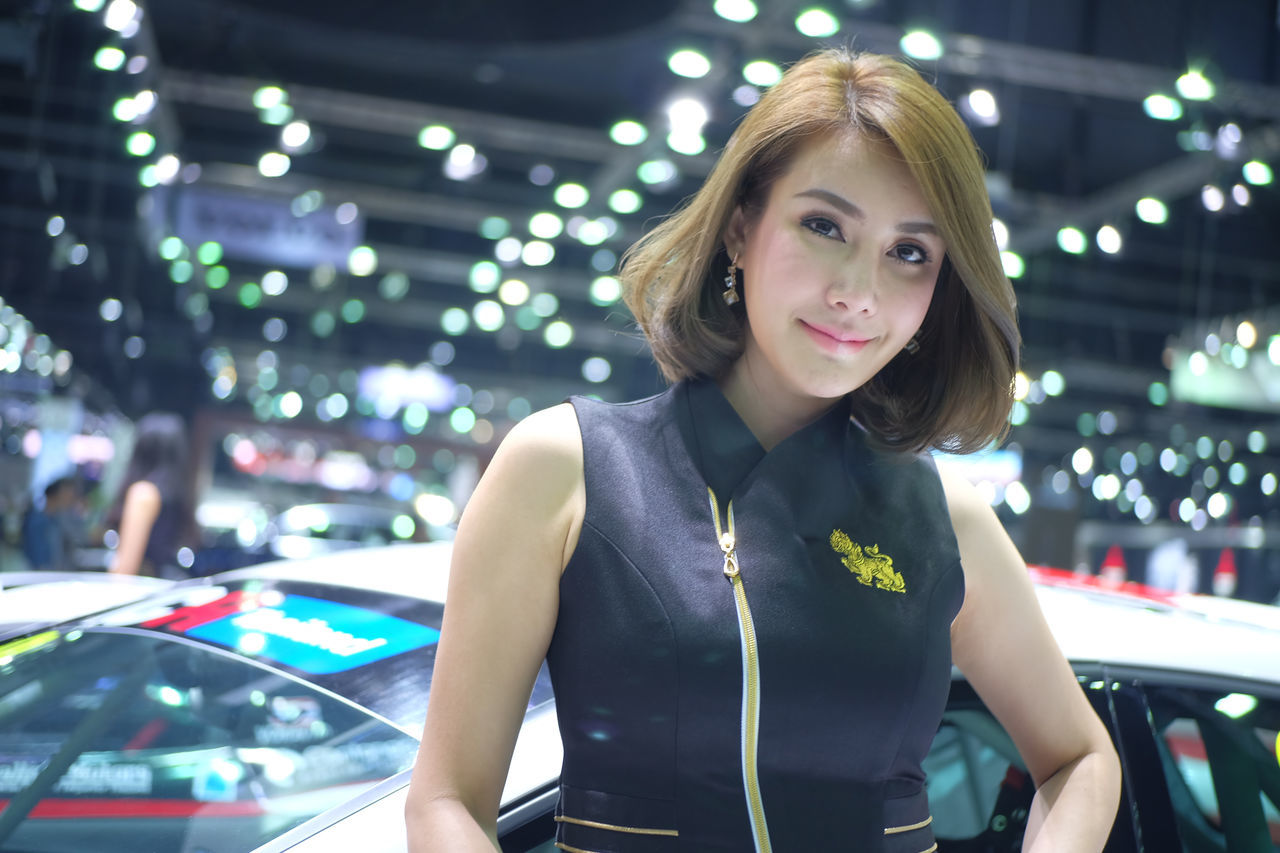 pretty model car in Thailand motor expo 2016 Car Car Show Event Exibition Exibition Hall Girl Hall Model Model Girl Motor Expo Motor Expo 2016 Present Pretty Pretty Girl Pretty Model Show Thailand