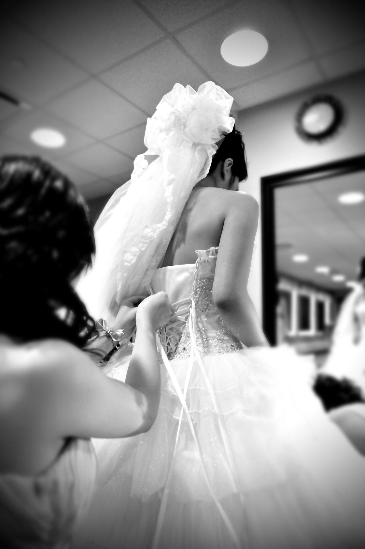 Black & White Wedding Dress Wedding Photography Transitional Moments