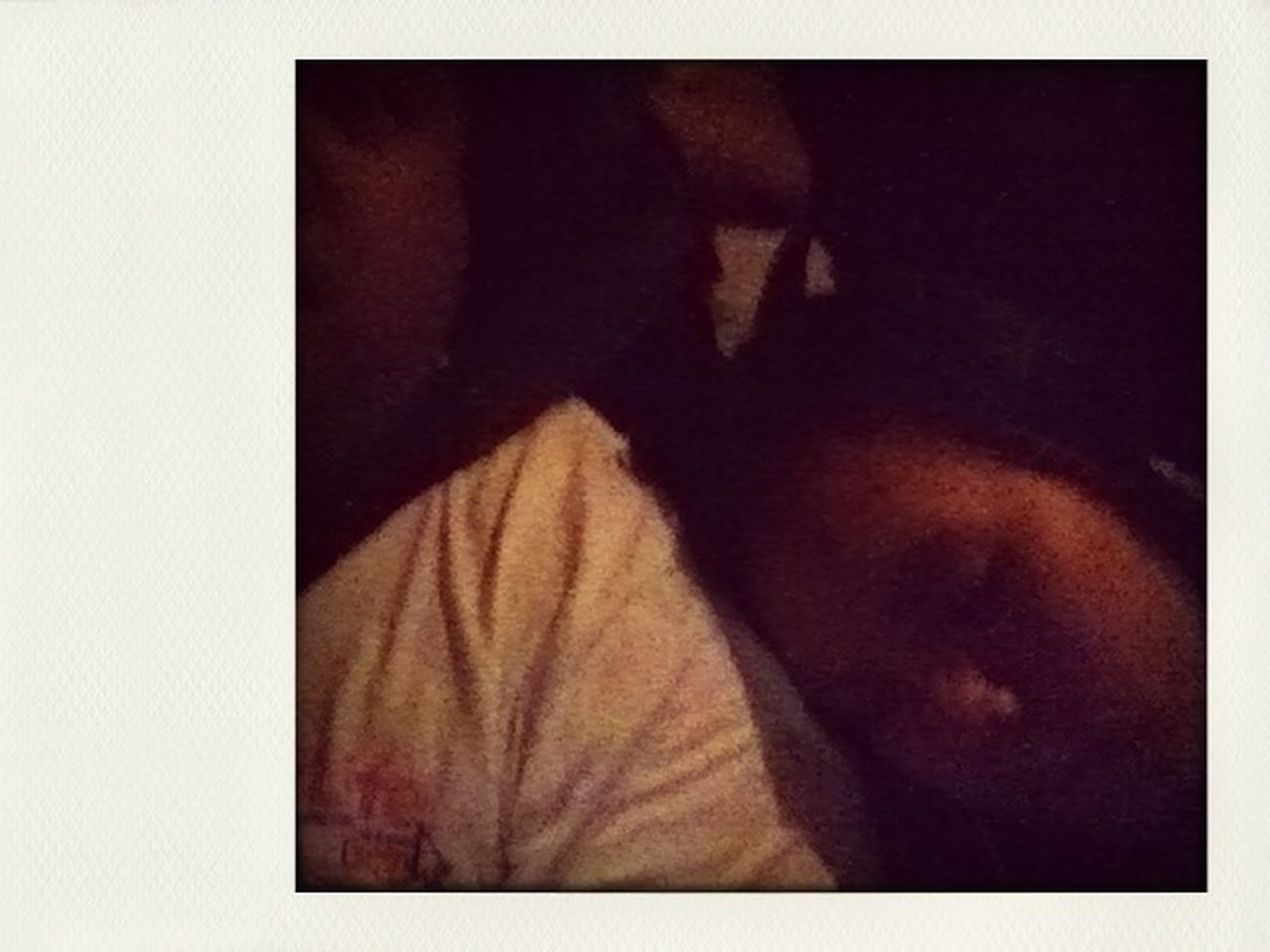 Baby sister leaning on my shoulder & sleeping whilst driving up to Bundaberg.
