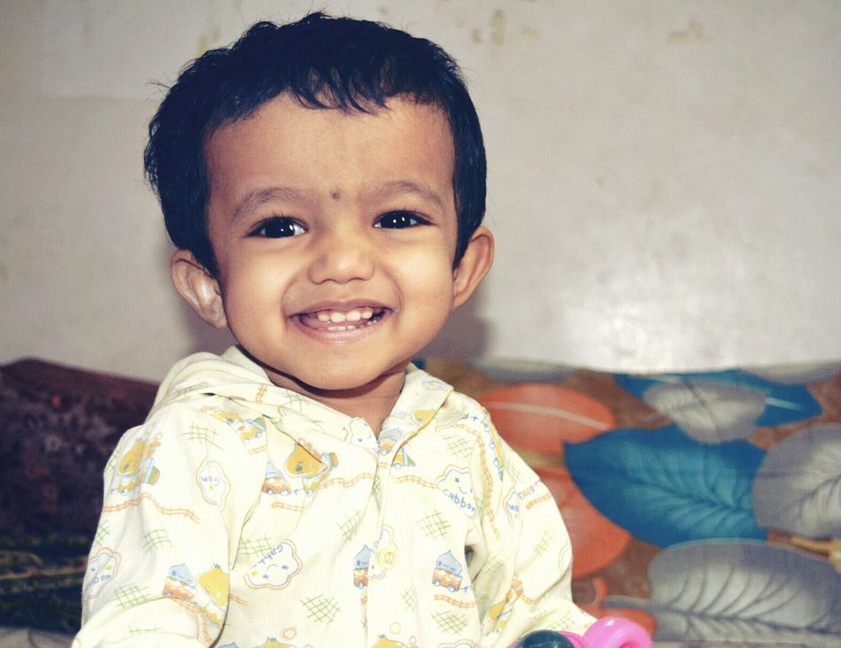 Swara Innocent Eyes Smile ✌ Portrait Portrait Photography Looking At Camera Smiling Cheerful One Person Happiness Real People Headshot People Childhood Human Body Part Close-up Indoors  Babies Only Formal Portrait Day Adult