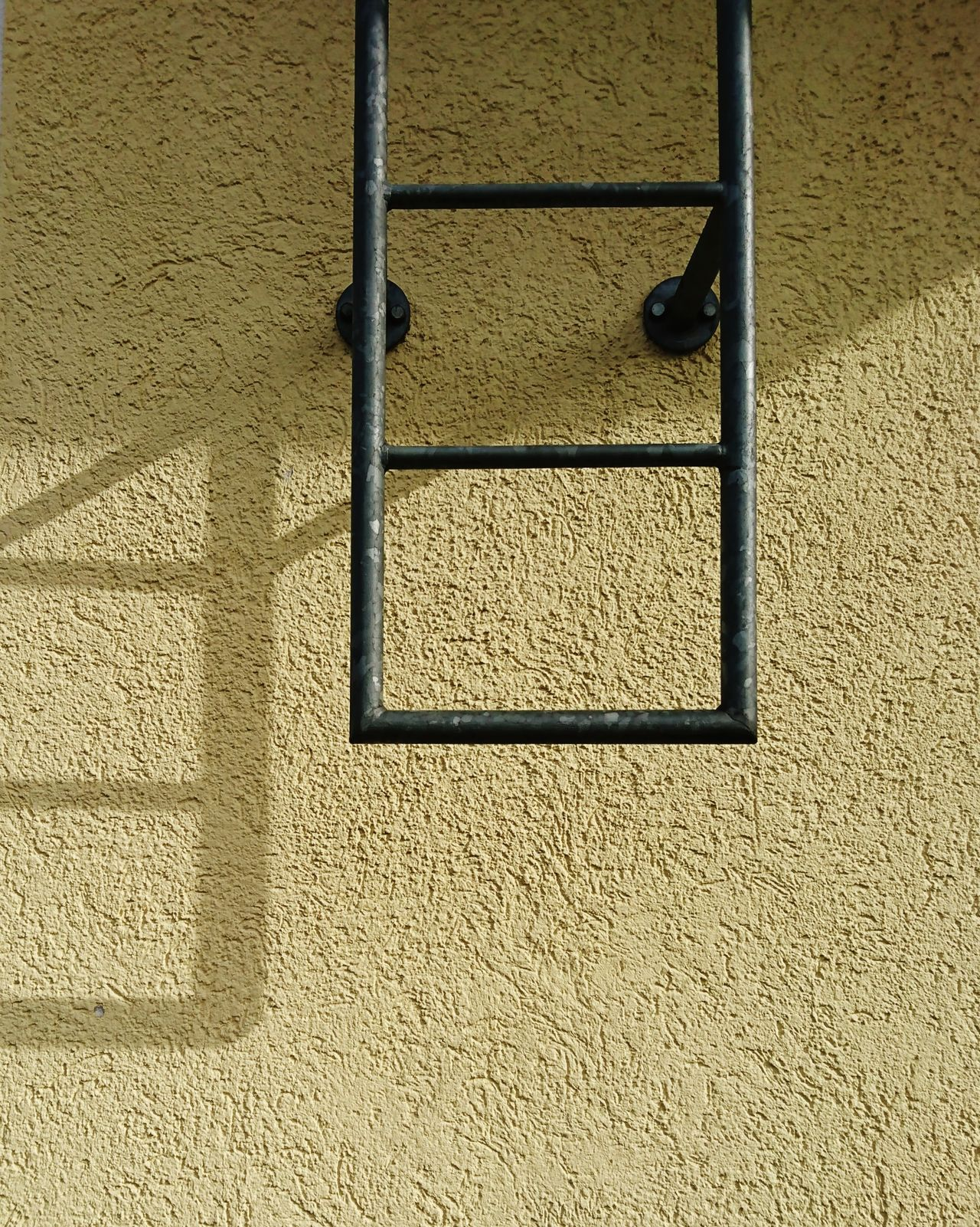 Yellow & Shadows Metal Textured  Pattern Built Structure Outdoors Day Architecture No People Yellow Metal Fireladder