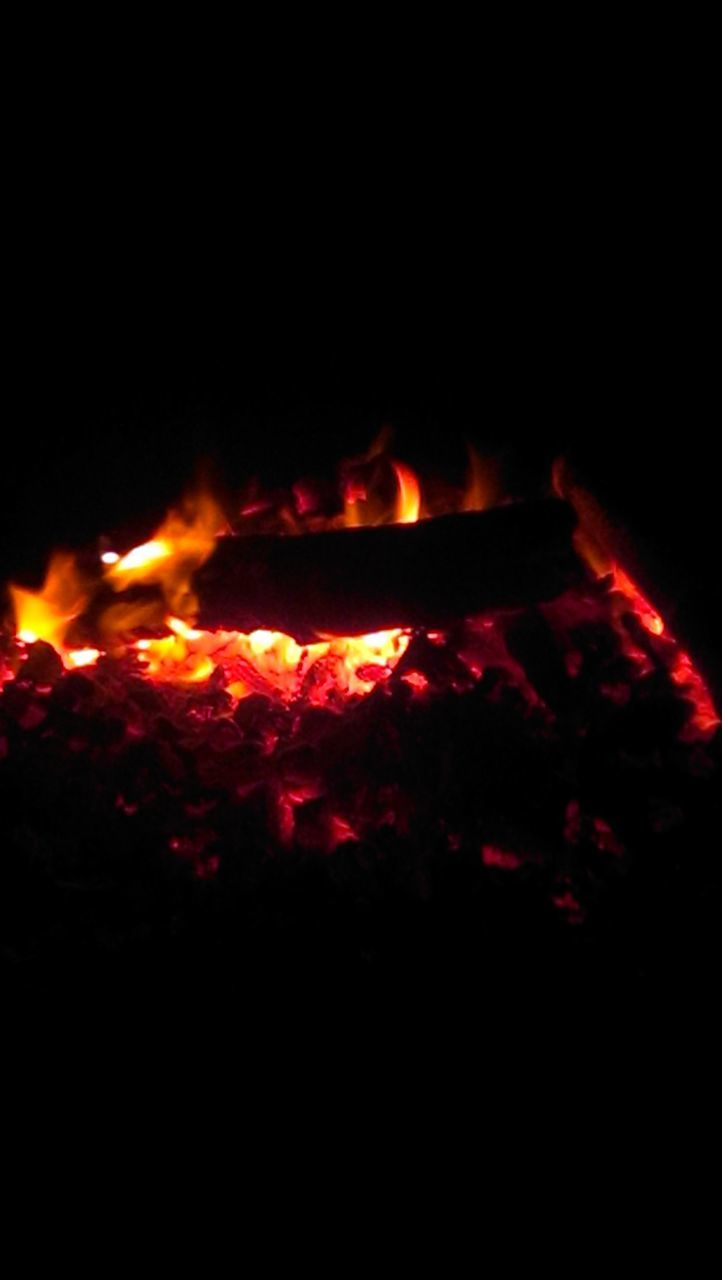 flame, night, heat - temperature, glowing, burning, no people, outdoors, motion, red, close-up