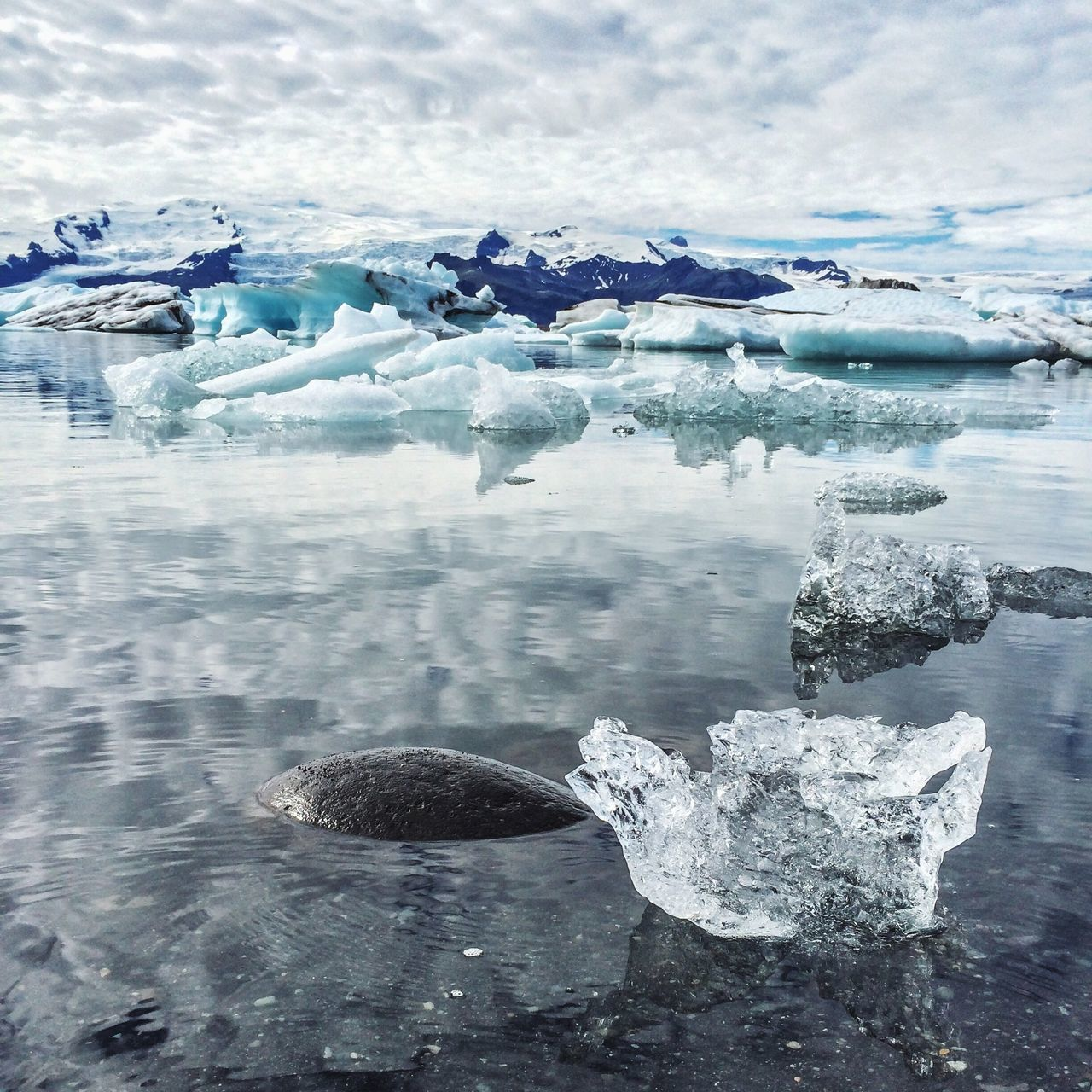 Beautiful stock photos of ice, Cloud, Cold Temperature, Day, Floating On Water