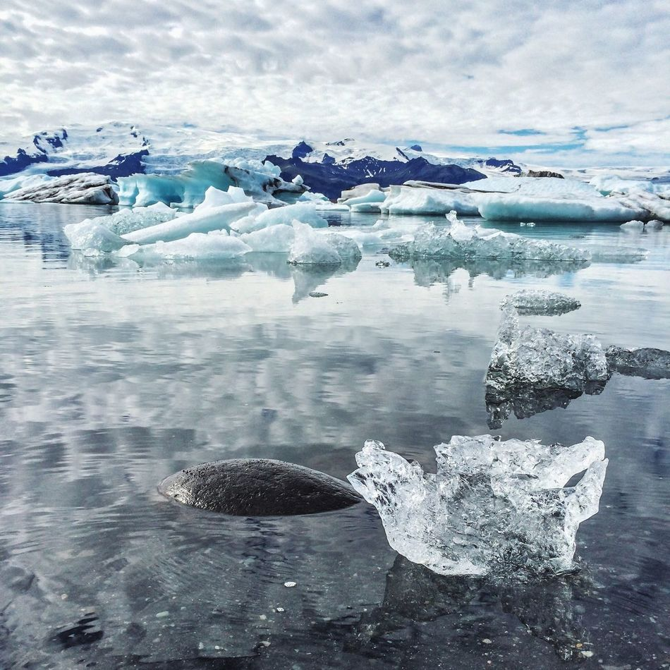 Beautiful stock photos of snow, Cloud, Cold Temperature, Day, Floating On Water