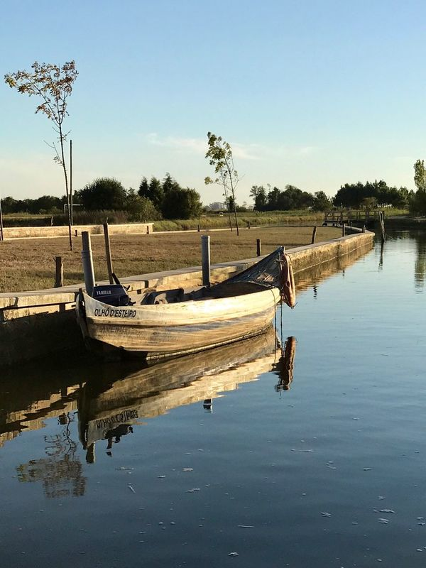Riverboat EyeEmNewHere Romantic Salreu Portugal Old Ship Nautical Vessel Water Transportation Tree Moored Mode Of Transport Reflection Nature Sky No People Beauty In Nature Tranquility Outdoors Outrigger Day Lake Scenics Longtail Boat EyeEm Ready