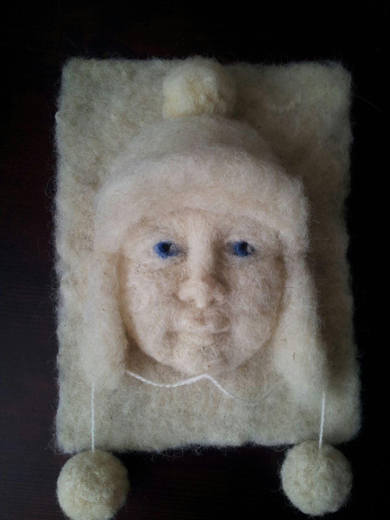 Number 3 of winter children Artdolls Handmade By Me Portrait Hello World
