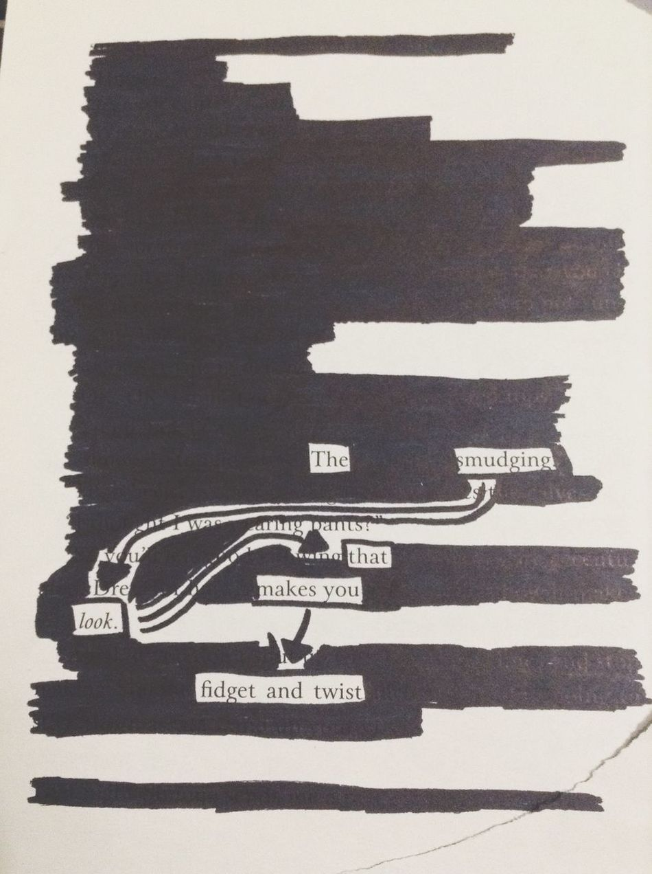Vision Stand Up Taking Photos That's Me Blackout Poem Zomg I'm A Mess  Tick Tock Tick... Tock Check This Out