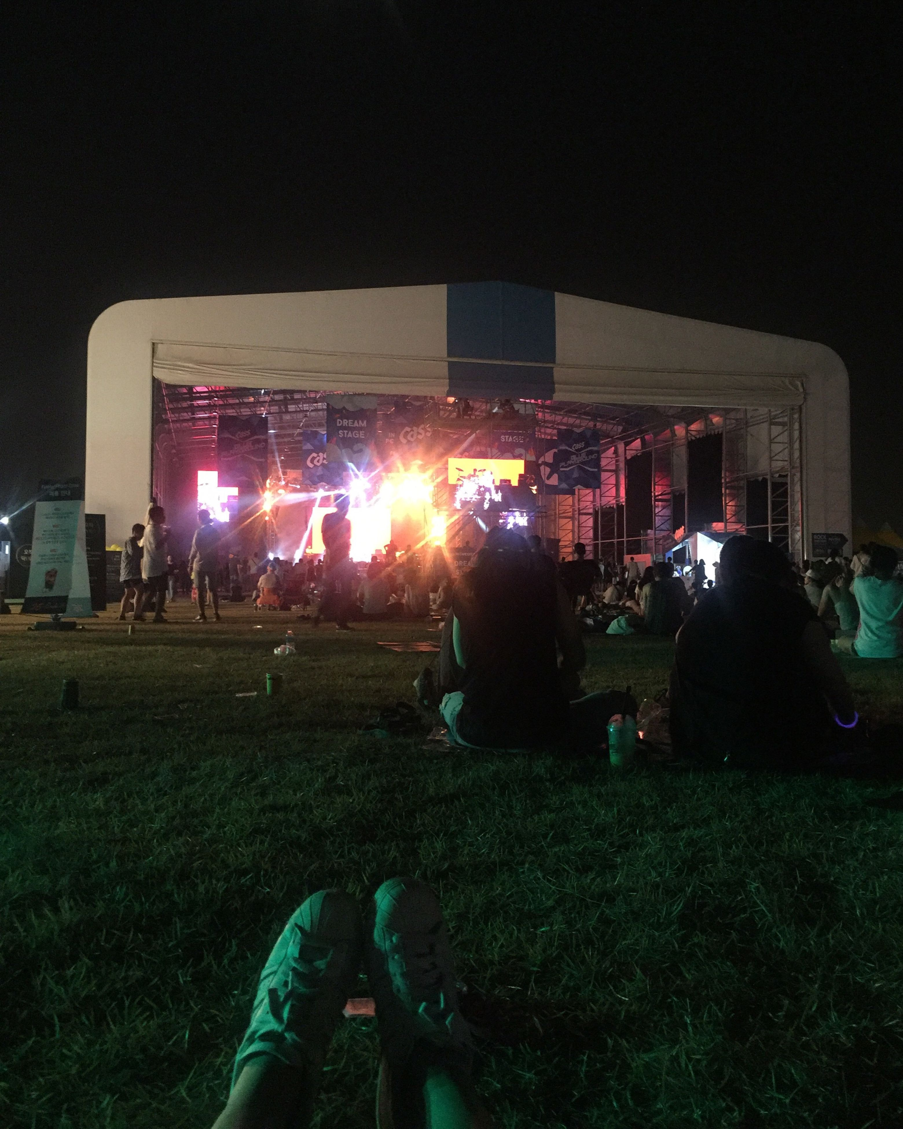 illuminated, night, grass, celebration, large group of people, arts culture and entertainment, men, event, field, crowd, performance, person, outdoors, lawn, group of objects, spectator, city life