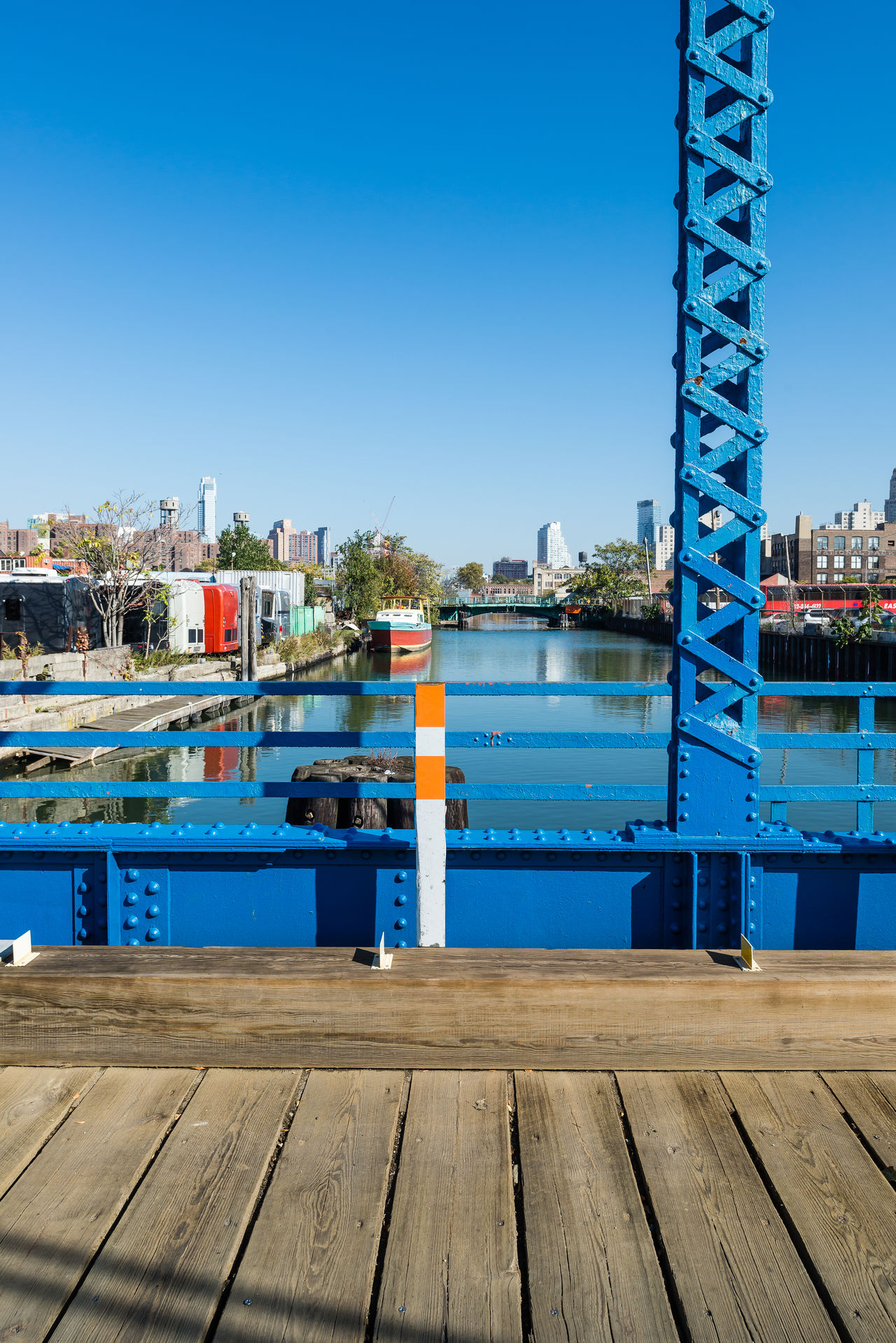 Blue Sky Bridge Brooklyn Built Structure Color Blue Colors Connection Gowanus GowanusCanal Hidden Places New York New York City Newyork Newyorkcity Outdoors Pastel Power River Urban USA USA Photos Water The Architect - 2016 EyeEm Awards