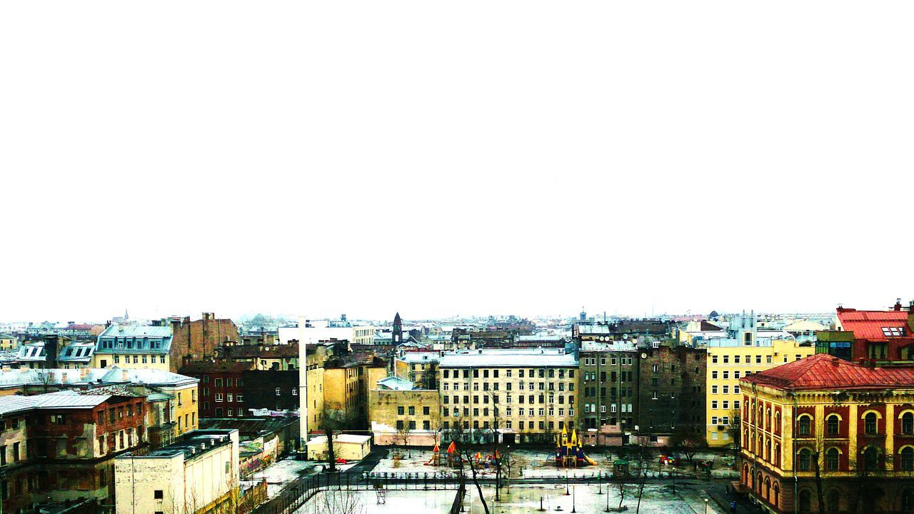 Negative Space Saint Petersburg Panoramic View Panorama Cityscapes City A view of Saint Petersburg from an 8th floor in the last winter days. High Angle View Mobilephotography Sony Xperia Zr Mobile Photography No People City View  Cityscape City Skyline