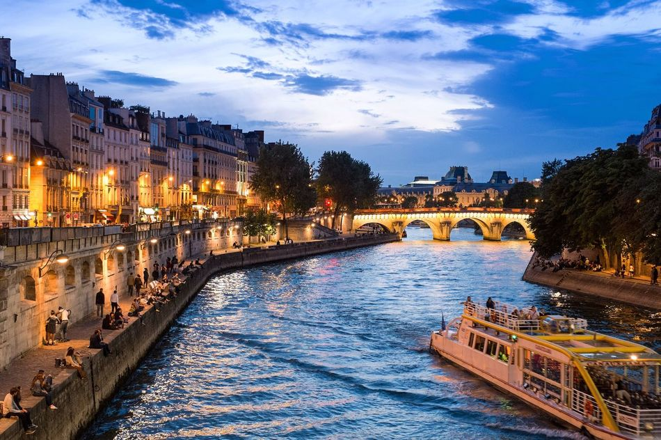 Beautiful stock photos of france,  Arch Bridge,  Architecture,  Boat,  Bridge - Man Made Structure
