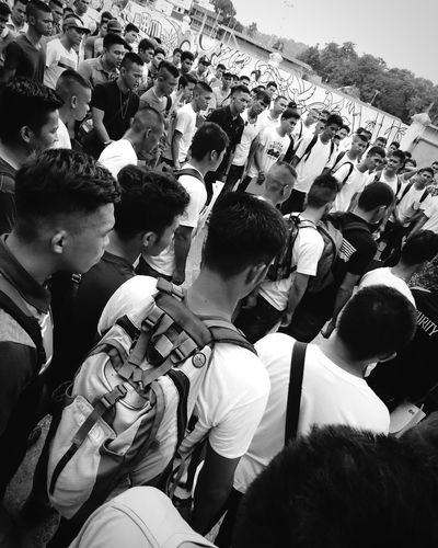 Aspiring Marines Candidates. Large Group Of People Men Event Outdoors Person Examinations Exam Candidates Marines Xperiax Monochrome Photography Mobile Photography Eyeemphoto EyeemPhotos EyeEmBestPics EyeEm Best Edits SONYXPERIAX Eyeemphotography Xperia X EyeemPhilippines EyeEm Gallery Streetfashion Street Photography Gathered Crowd