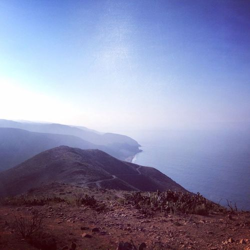The scenery is nice on top of Point Mugu State Park