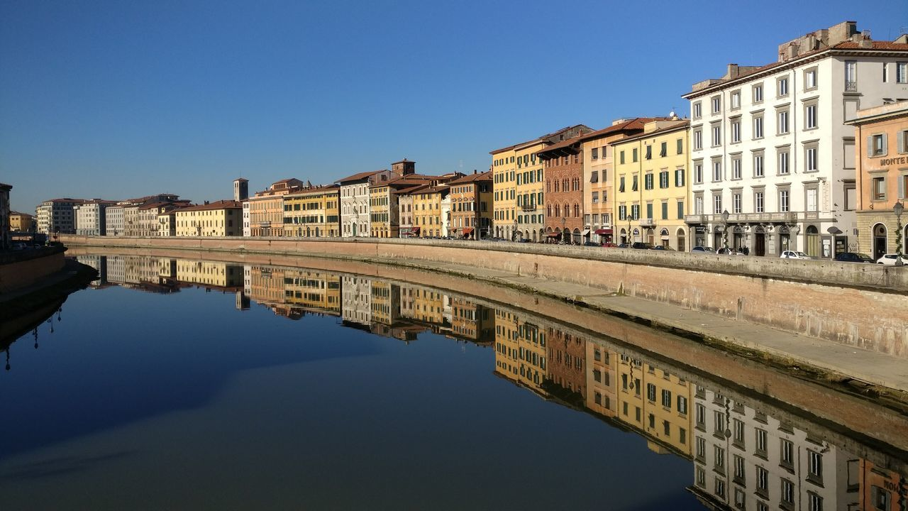 Reflection Water Building Exterior Architecture Outdoors City Sky Day Human Eye Pisa Pisa - Italy River View Arno River Riverscape Upside Down Upside Down Photography Upsidedown Having Fun! Upside UpsideDownShot River Collection Clouds And Sky Cloud - Sky No People Color Sunlight