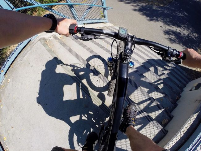 12mph stair down 😂 Taking Photos On The Move Perspective Bicycle Bike MTB On Your Bike Capturing Movement Motion Home Is Where The Art Is Bike Trail Celebrate Your Ride Point Of View POV Outdoors Whatever Stairs