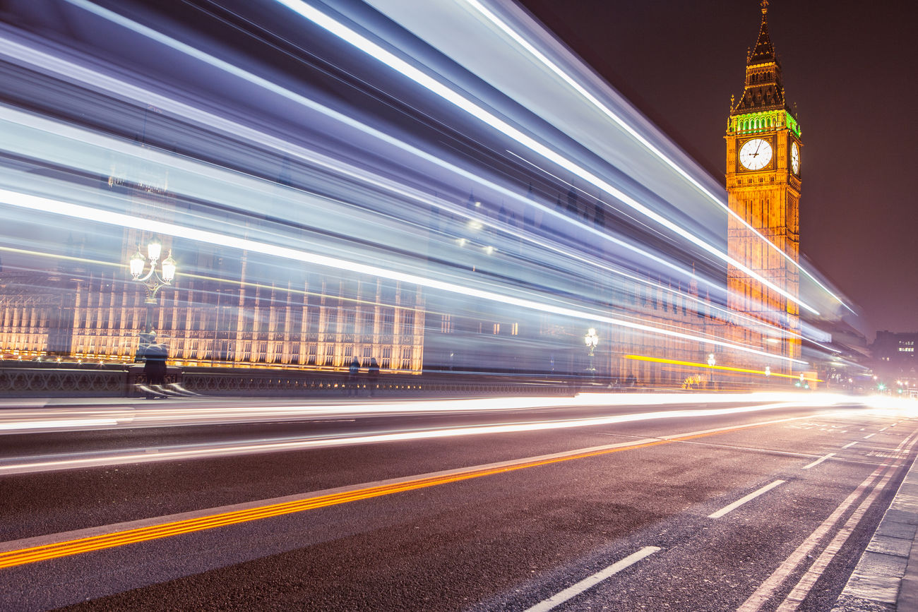 Big Ben, Westminster, London Architecture Big Ben City City Clock Tower EyeEmNewHere Illuminated Light Trail London Long Exposure Motion Night Outdoors Road Sky Traffic Transportation Travel Travel Destinations Westminster