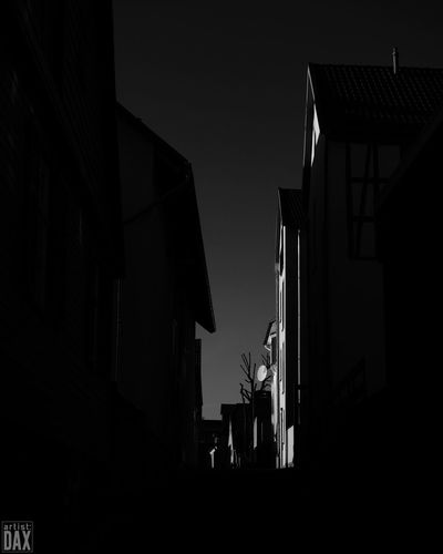 artist:DAX PHOTOGRAPHOHOLIC I born to capture | Silhouette No People Day Sky Architecture EyeEm Best Shots - Architecture ArtistDAX EyeEm Gallery Architecture_collection Low Light Blackandwhite Monochrome Streetview Warburg Altstadt Germany Clear Sky EyeEm Best Shots - Black + White EyeEm Bnw Minimalarchitecture Lowlight Streetview The City Light
