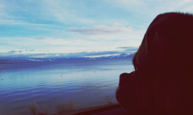 Animals California Love Sky And Clouds Sky_collection Laketahoe Mountains Snow Outdoors Outdoor Photography Nature Photography Mountains And Sky Dog Chug Chuhuahua Pug View From The Window... Doglover