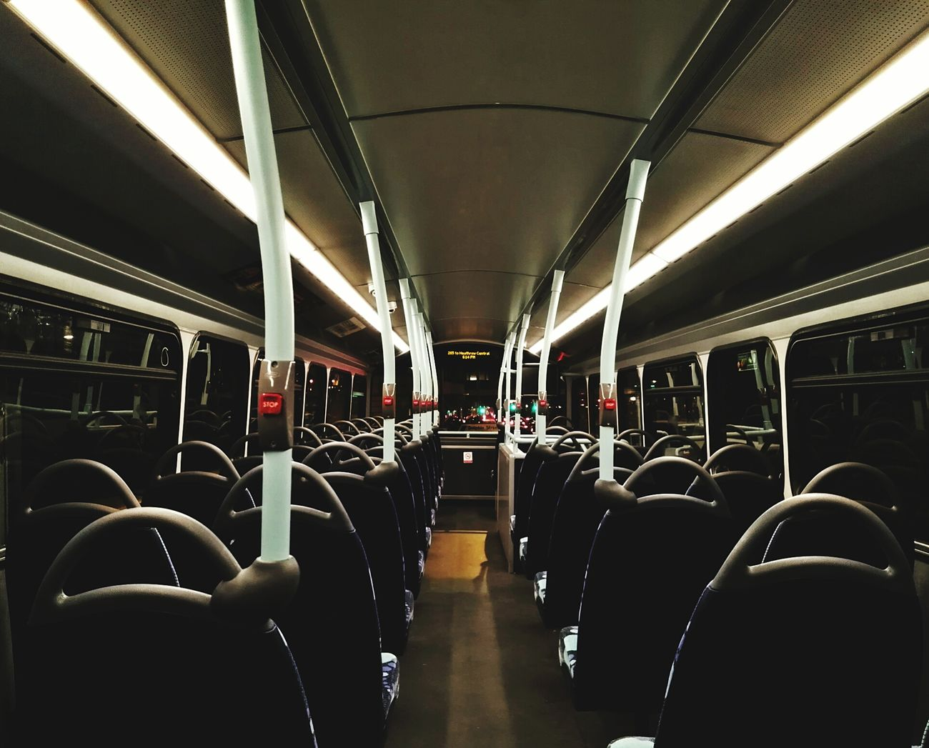 Vehicle Seat Transportation Travel Public Transportation Indoors  No People Day Hanging Out Transportation Commercial Land Vehicle Stationary London Bus London Night