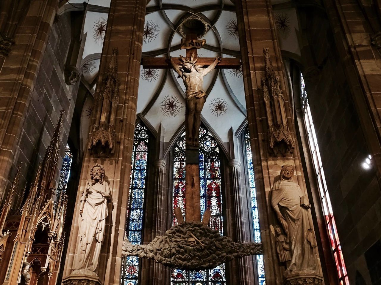 Architecture Built Structure Day France God History Indoors  Jesus Low Angle View No People Pattern Place Of Worship Religion Strasbourg