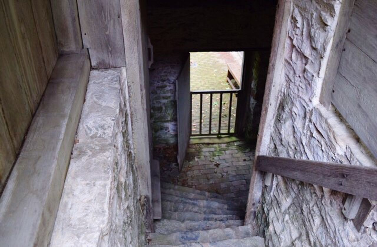 staircase, built structure, architecture, ancient, history, steps, indoors, door, doorway, open, steps and staircases, abandoned, old-fashioned, no people, day, prison, confined space