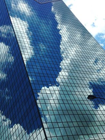 Light And Reflection Sky Reflection Low Angle View Architecture Day Built Structure Modern Cloud - Sky Building Exterior Outdoors Close-up Office Block