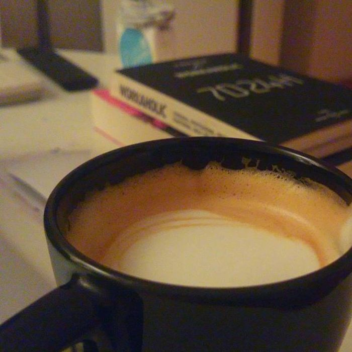 A late shot. Wholelattelove CoffeeGeeks Cappuccino Bluebottlecoffee