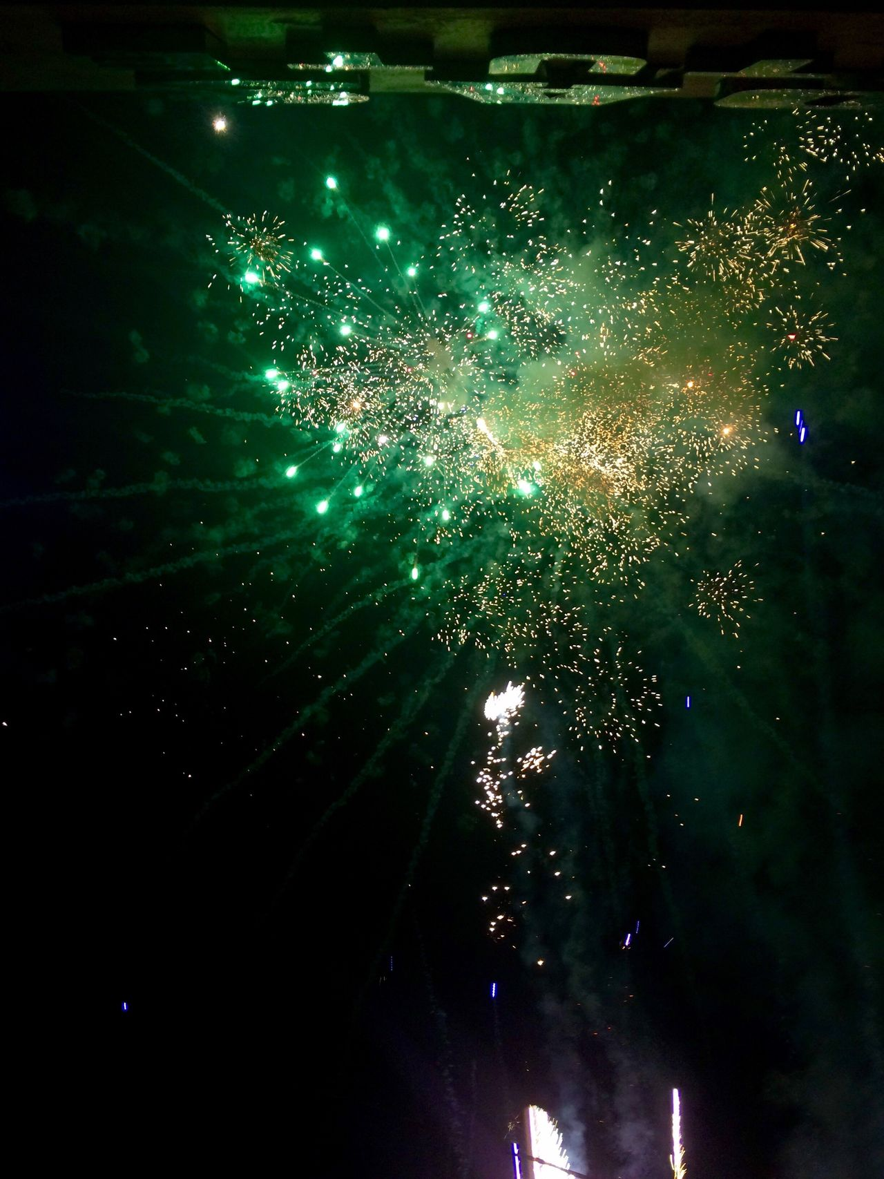 1/1/17 My Year My View No People No Filter, No Edit, Just Photography No Edit No Filter Photography Original Photo Shot From Below Front Camera Fireworks 🎆 Green Color 💚 Sky Outdoors Exploding Celebration Arts Culture And Entertainment Night 🌌 Illuminated ShotOnIphone 📱 Philippines 🇵🇭 Adapted To The City