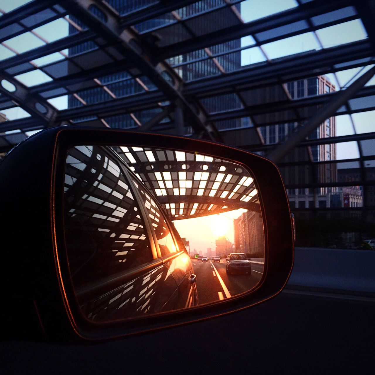sunset, lens flare, sun, transportation, sunbeam, sunlight, window, car, mode of transport, land vehicle, no people, indoors, day, nature, architecture, sky, close-up