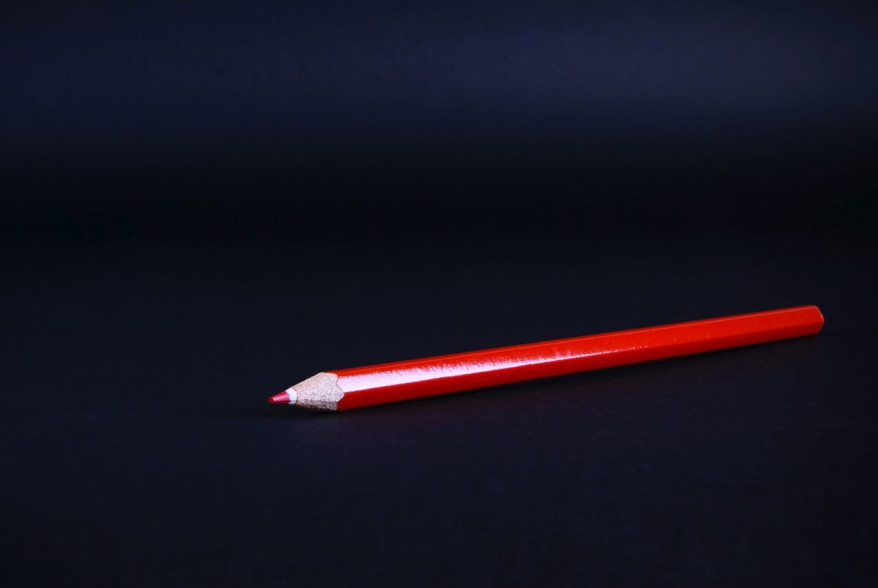 Beautiful stock photos of pencil, Black Background, Colored Pencil, Cut Out, No People