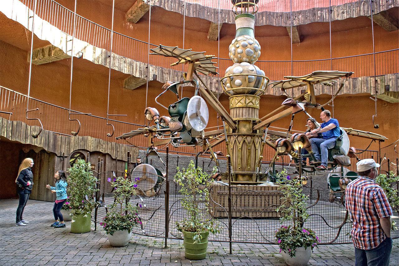 Amusementpark Architecture Building Exterior Built Structure Entrance Famous Place HD Outdoors Person Phantasialand Phantasialand Brühl Pretpark Travel Destinations
