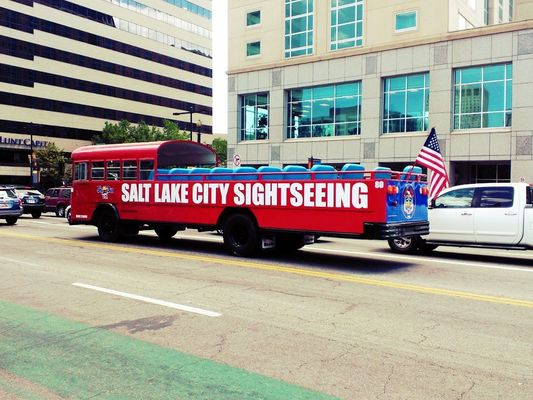 catching the tour bus in Salt Lake City by Tyler Smart