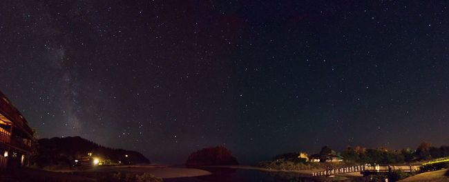 Night stars at the beach panorama. Each photo was 10seconds, stitched in Photoshop, edited in Lightroom. Stars beach Night