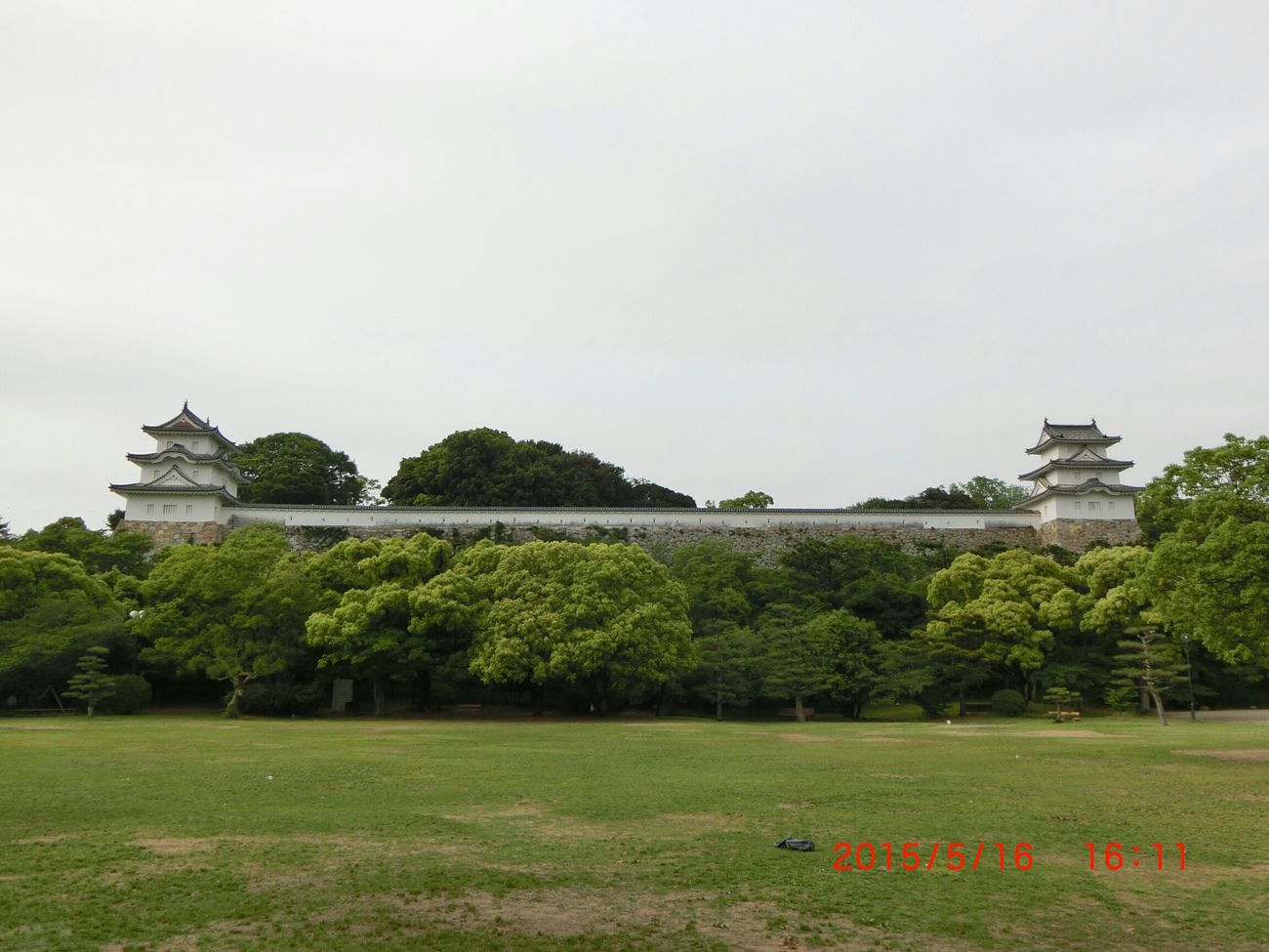 明石公園 Park View Cloudy Day Castle