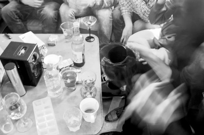 barty party Blur Blurred Motion Capturing Motion Dining Table Drinking Glass Drinks Food And Drink Fun Glasses Hands High Angle View Indoors  Legs Monochrome Photography Party Party Time Real People Sitting Style Table Young Adult Young People