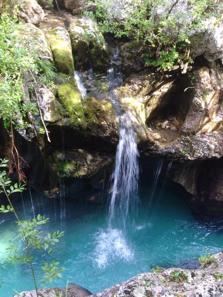 Rock - Object Waterfall Rock Formation Beauty In Nature Water Nature No People Scenics Motion Outdoors Day Plant Cliff Bovec Slovenia