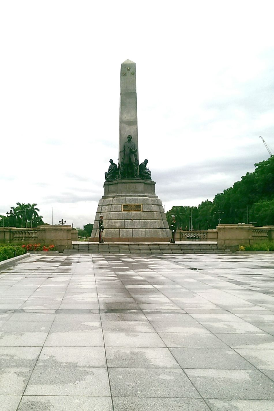 After the rain at the park. Rizal Park At Rizal Park Jose Rizal Monument Jose Rizal Monument After The Rain Gloomy Day Luneta Guards On Duty Showcase July