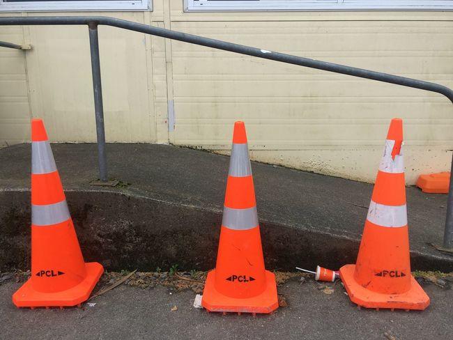 Triple road cones Traffic Cone Orange Color Safety Road Road Cone Three Group Of Three