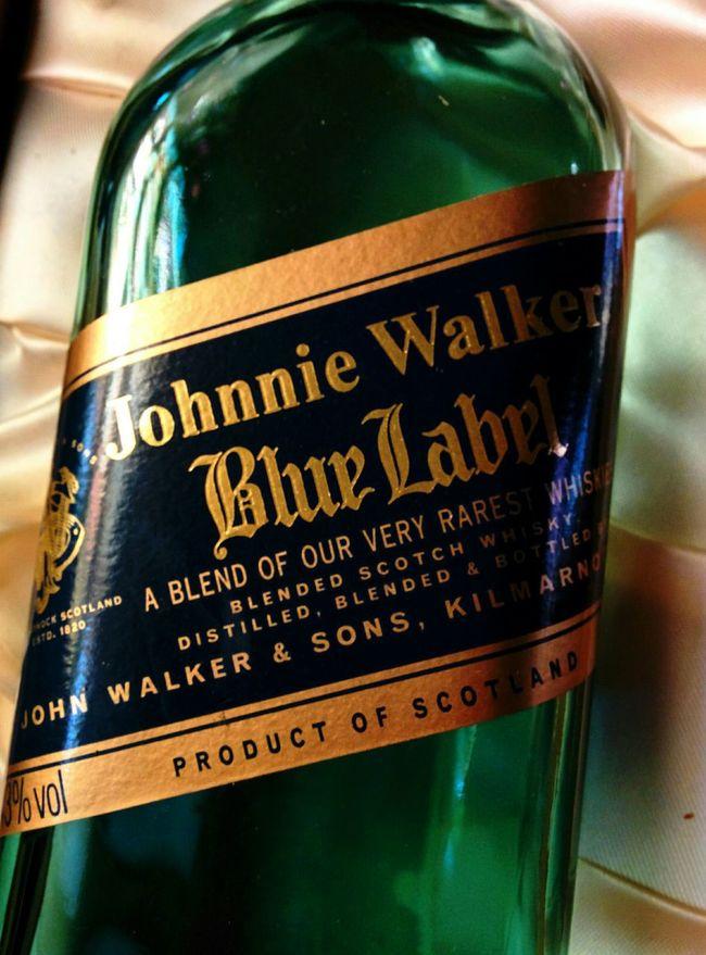 One Mans Trash Is Another Mans Treasure Thrown Away Johnnie Walker Liqour Bottle Satin Box