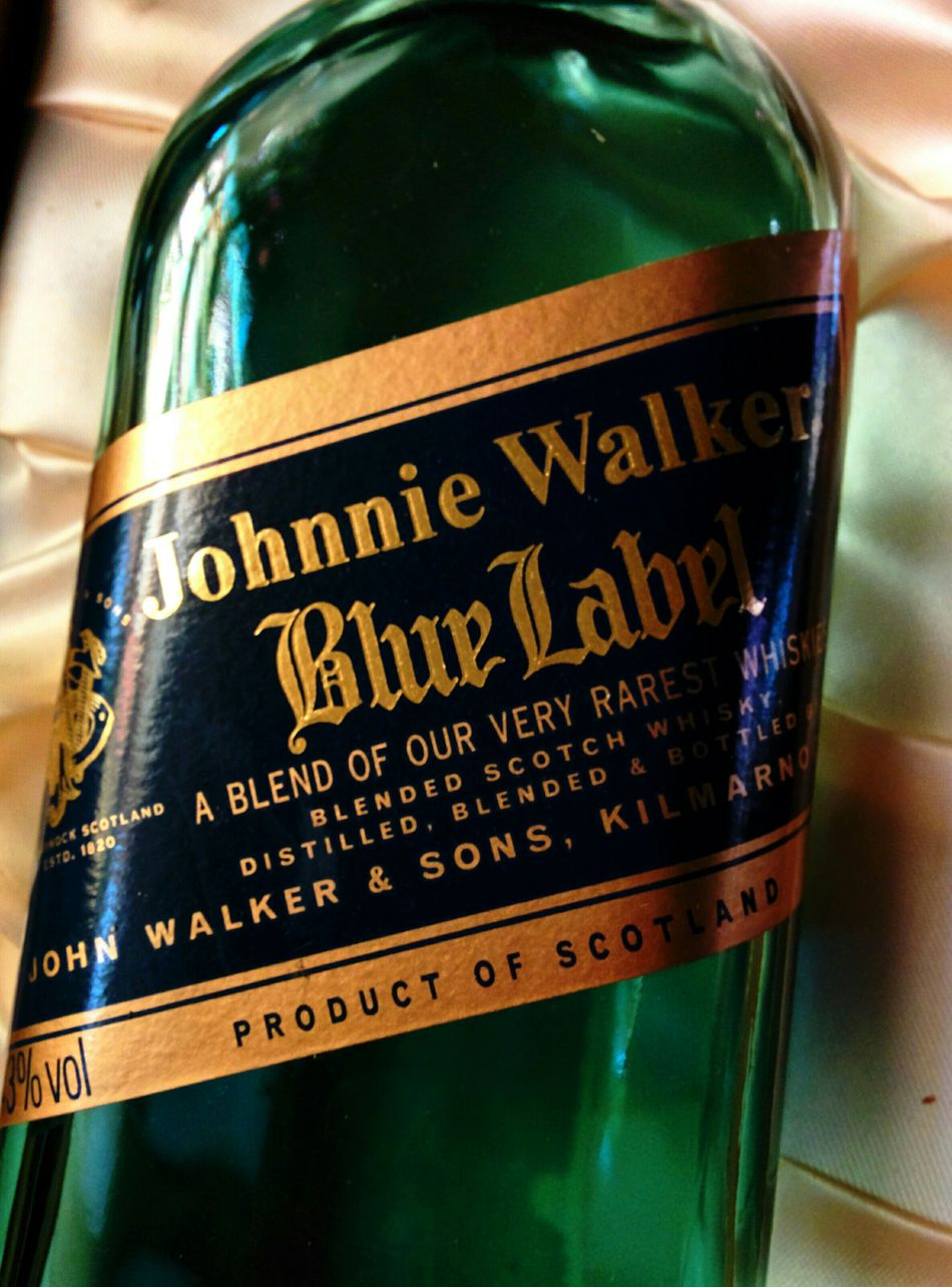 One Mans Trash Is Another Mans Treasure Thrown Away Johnnie Walker Liqour Bottle Satin Box