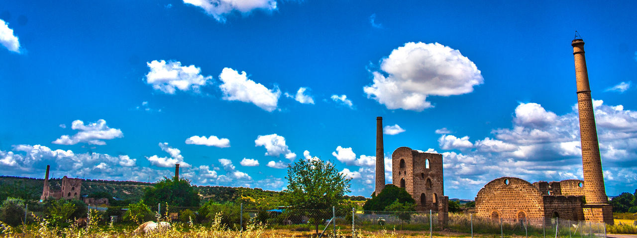 Architecture Blue Built Structure Jaen Province Linares Minas De Linares Mining Mining Heritage Mining Industry No People Patrimonio Etnológico Sky