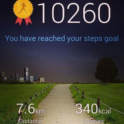 Yesterday Running 7600 Meters 7 kilometers