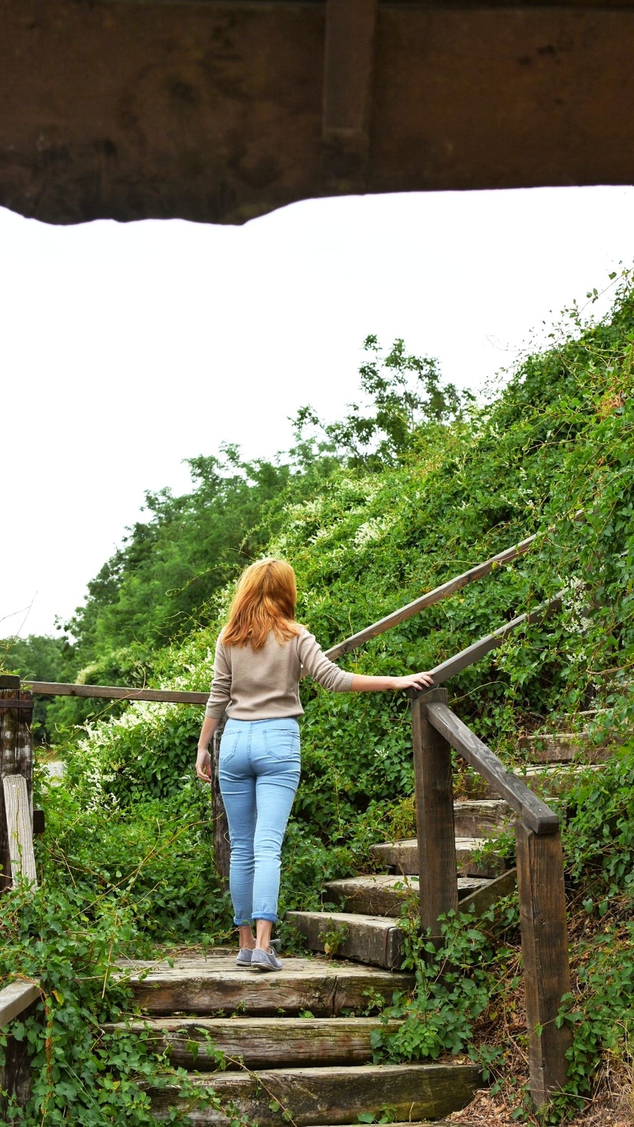 Redhead Only Women Rear View One Person Young Women Casual Clothing Long Hair Full Length Nature Walk Nature Exploring