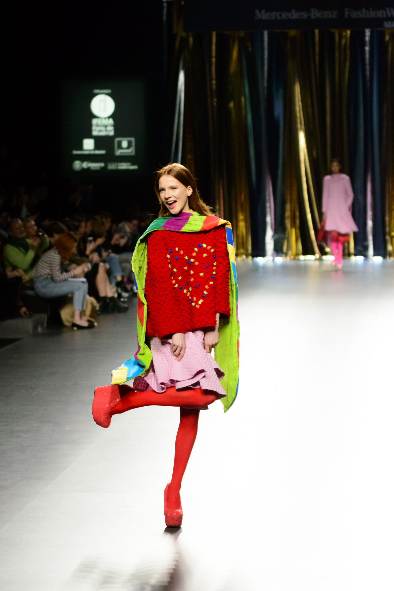 Agatha Ruiz De La Prada - Merecedes benz Fashion Week Madrid 2016 - Autumn-Winter 2016-2017. Catwalk Clothes Editorial  Fashion Fashion Show Fashion Week Full Length Lifestyles Mbfw Mbfw2016 Mercedes Benz Fashion Week Models Real People Woman Women Young Adult Young Women